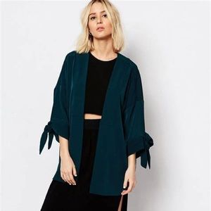 Weekend Collection open front cape kimono green M